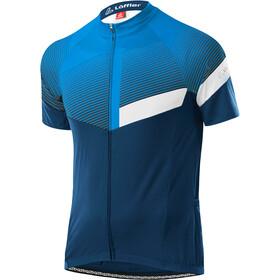 Löffler Stream Mid Full-Zip Bike Jersey Men, blauw